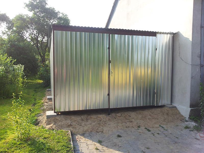Standardowe Garaże Blaszane Blaszaki Garaż Blaszany 35m X 5m