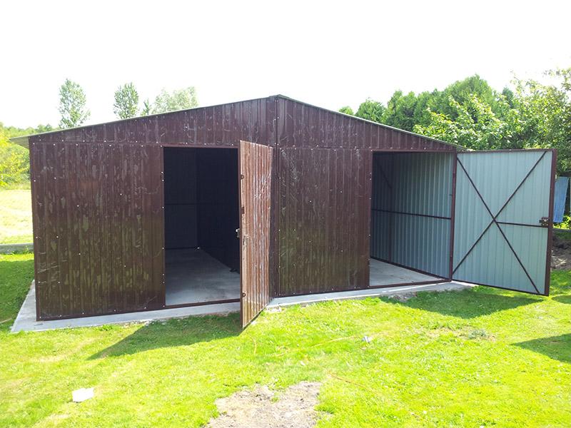 Standardowe Garaże Blaszane Blaszaki Garaż Blaszany 6m X 5m