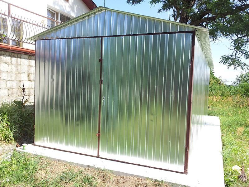 Standardowe Garaże Blaszane Blaszaki Garaż Blaszany 3m X 5m