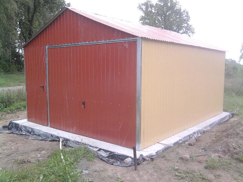 Standardowe Garaże Blaszane Blaszaki Garaż Blaszany 4m X 5m